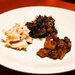 中華 うずまき - 前菜3品(豚舌、白イカ、アキレス)