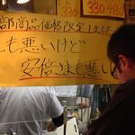 宮川橋もつ肉店 - 安倍さま・・・