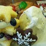 カレルチャペックスウィーツ - クリスマスアフタヌーンティーセット(上段)