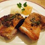 ヘルシー・カフェ・レストラン のら - 地鶏の黒米ファルシ