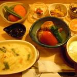 玄三庵 - 栄養士の晩ごはん♪選べるご飯から玄米ドリアを選択♪