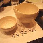 日本酒バー オール・ザット・ジャズ - 京都・今宵堂に特注した片口と杯で飲む日本酒が美味い♪