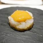 トムクリオーザ - レアの海老、下に焼き茄子。海老の香りに溢れていました。