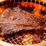 焼肉の龍園 - 黒毛和牛Tボーンステーキ