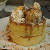 カフェ ヒラク - 料理写真:人気NO,1 香ばしアーモンドとキャラメルパンケーキ ダブル