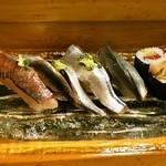 鮨大前 - 鯵、鰯、秋刀魚、小肌、鯖の巻物