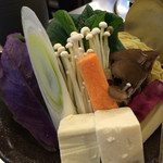 しゃぶ亭 - ランチのお野菜❤︎