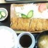 ラグビー - 料理写真:ヒレカツ定食 1100円