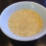 四川料理 天華 - ランチセットのスープ