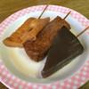 宮川食堂 - 料理写真:てんぷら、厚揚げ、こんにゃく。あと玉子がありました。