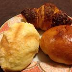 ケイット レイパ - ポテトサラダクロワッサン+ブリオッシュあんぱん+リーフメロンパン