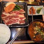 安楽亭 - ファミリーカルビ定食A(\1480)