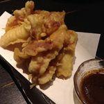 九州 熱中屋 - 肝醤油で食べる五島いか 天麩羅