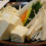 魚たつ - 071230GH会しゃぶしゃぶ野菜
