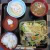 あるぱん - 料理写真:肉野菜炒め定食 750円