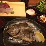 魚と酒 はなたれ - イサキの塩焼き定食