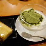 玉露園喫茶室 - 抹茶ヨーグルト