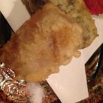 江戸肉割烹 ささや - 里芋と牛蒡の天婦羅