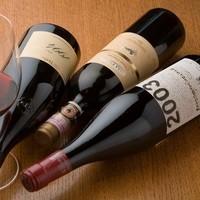 豊富なシャンパーニュとレアなワイン