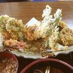 そば処 おおほり - お薦め 天ぷらそば自慢【手打ちそば処 おおほり】名物のジャンボ天ぷらそば♪