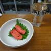 坂倉酒店 - 料理写真:清酒と焼きタラコ