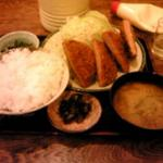 竹泉 - ハムカツ定食
