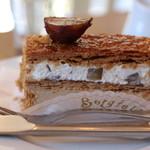 ベルグフェルド - ナポレオン 栗とクリームと2層になってます サクサクでおいしい♪