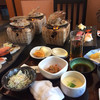 うまか粋亭 - 料理写真:ランチセットとホタテ焼き
