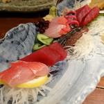 海鮮 居酒屋 凛火 - 旬の鮮魚3種盛り合せ