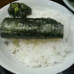 一乃利 - ライス100円海苔巻中  本当は海苔がべしゃっとなります!