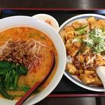 四季紅 - 坦々麺&麻婆飯セット