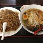 四季紅 - 牛肉飯&醤油ラーメンセット