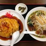 四季紅 - 天津飯&醤油ラーメンセット