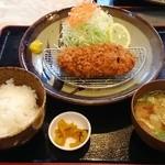 レストハウス水郷 - 料理写真:ひれかつ定食
