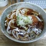 そば処 むさしの - コロッケうどん・税込370円 2014.11