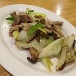 臼屋食堂 - ネギ肉炒め 450円