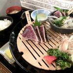 明神丸 - 塩・タレたたき定食