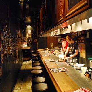 Bar感覚のカウンター焼肉♪