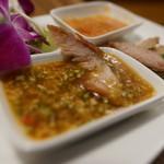 サイアム - 蒸し鶏に付ける特製ソース