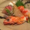 旅館 洋々閣 - 料理写真:お造り 平政、イカ、車海老、太刀魚、