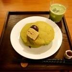 33074337 - 抹茶のホットケーキセット