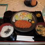 大空食堂 - 豚カツ定食 クーポンで720円