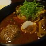 天竺 - 北海道チキン+ラムハンバーグ