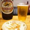 桃李庵 - 料理写真:瓶ビール、揚げそばがおつまみに