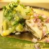 さえ喜 - 料理写真:厚岸の牡蛎 モロヘイヤのソース