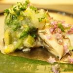 さえ喜 - 厚岸の牡蛎 モロヘイヤのソース