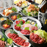 <歓送迎会に>馬肉&熊本料理づくしコースがお得!!