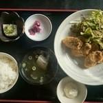 海賊亭 - カキフライ定食(数量限定) 880円(2014/11)