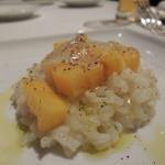 リストランテルーチェ - みしらず柿とゴルゴンゾーラのリゾット