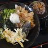 そばの里 江丹別 - 料理写真:冷やし天ぷら870円 黒米おにぎり150円